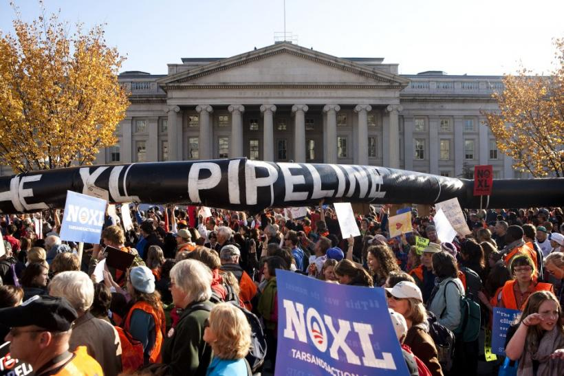 Protestors call for XL Pipeline's cancellation