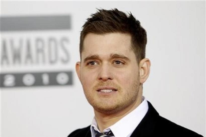 Singer Michael Buble arrives at the 2010 American Music Awards in Los Angeles