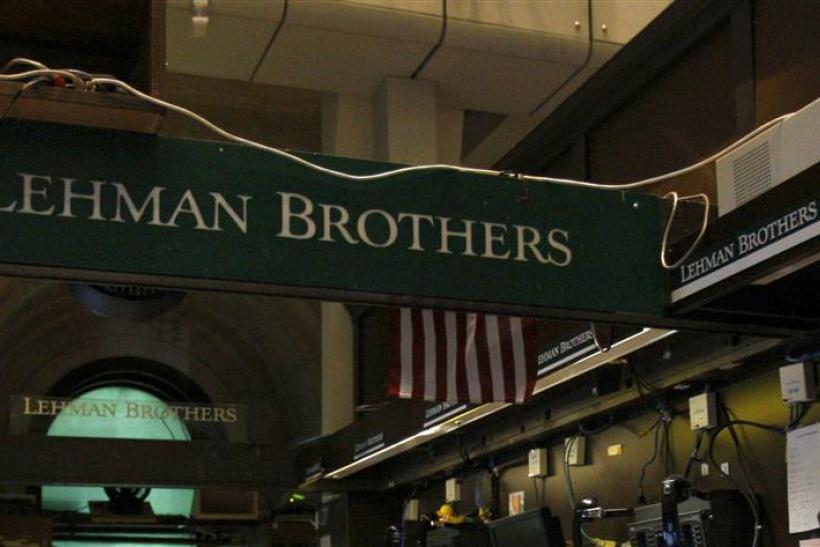 File photo of Lehman Brothers booth on the trading floor of the New York Stock Exchange