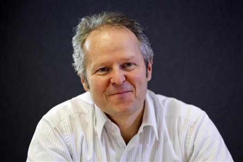 Yves Guillemot, Chief Executive Officer and founder of Ubisoft, addresses the Reuters Global Media Summit in Paris, December 1, 2011.
