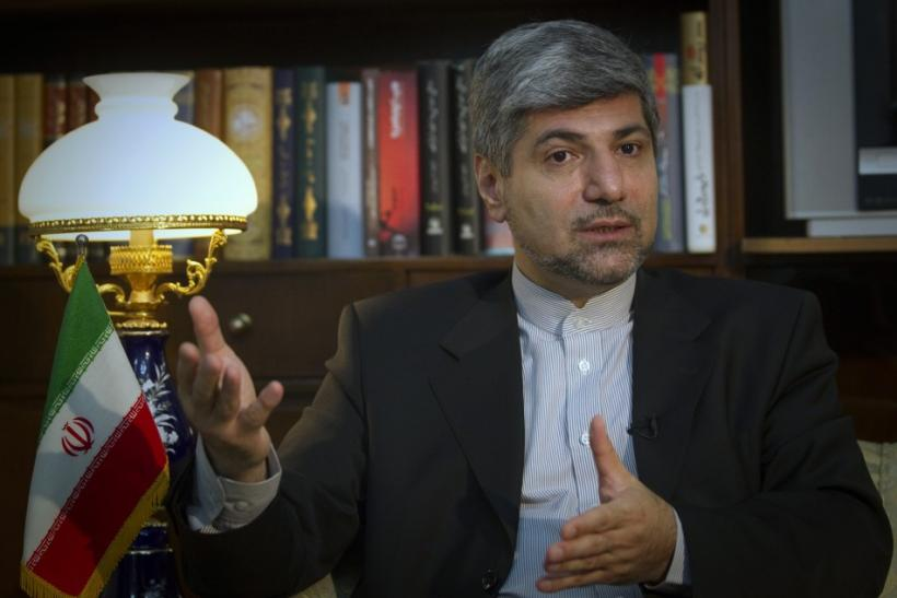 Iranian Foreign Ministry Spokesman Ramin Mehmanparast speaks with a Reuters correspondent during an interview in Tehran June 29, 2011.