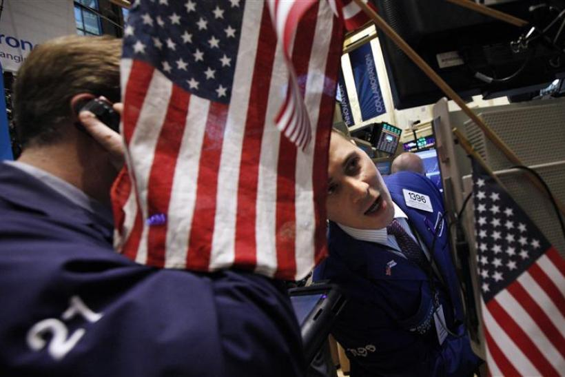 Specialist Joseph Mastrolia works on the floor of the New York Stock Exchange