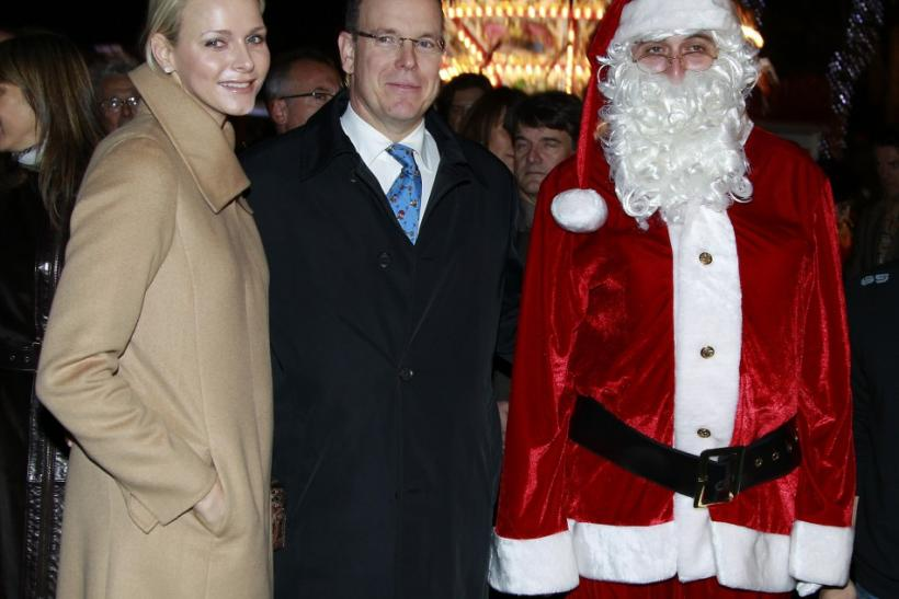 Princess Charlene in Monochromatic Shade Again at Monaco's Christmas Village Inauguration (PHOTOS)
