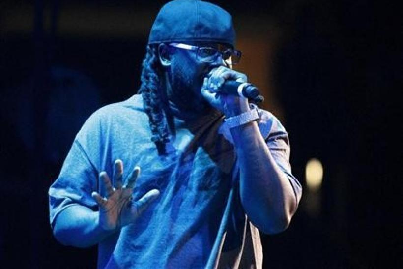 Singer T-Pain performs in concert during the F.A.M.E. Tour in Los Angeles October 20, 2011.