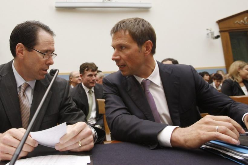 AT&T's chief executive Randall Stephenson and Deutsche Telekom CEO Rene Obermann