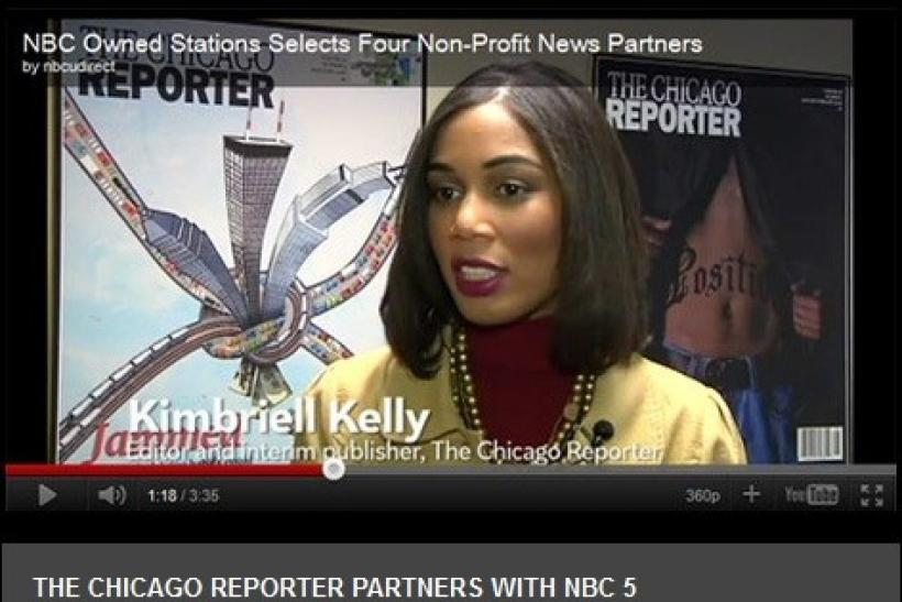 Screen shot of The Chicago Reporter website.