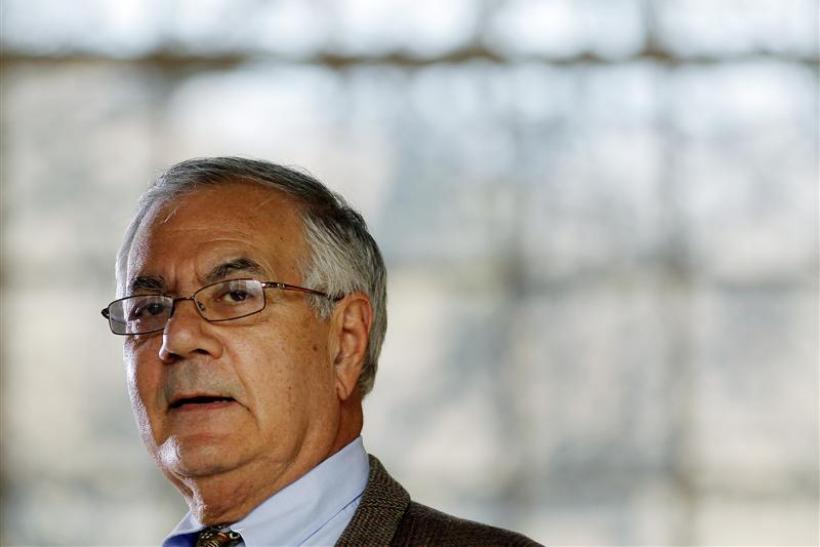 Rep. Barney Frank (D-MA) speaks at a news conference announcing that he would not seek a 17th term in congress next year in Newton