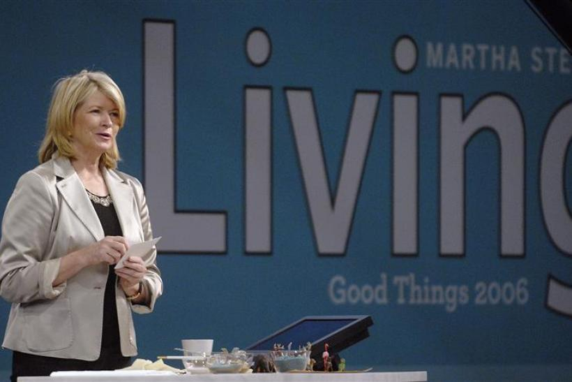 "Martha Stewart speaks to the audience at her trade show, called ""Good Things"", in New York"
