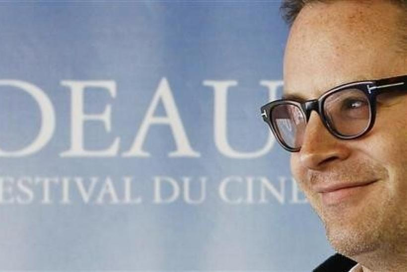 Danish Director Nicolas Winding Refn poses at a photocall for his film ''Drive'' during the 37th American Film Festival in Deauville