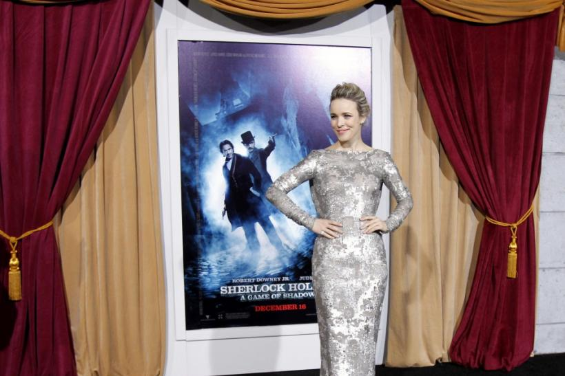 "Cast member Rachel McAdams poses at the premiere of ""Sherlock Holmes: A Game of Shadows"" at the Village theatre in Los Angeles"
