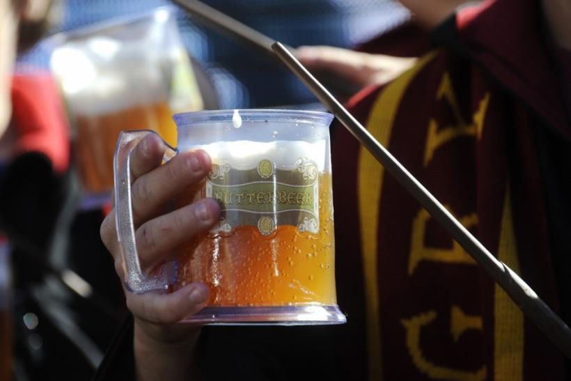 "Wands and ""butterbeer"" are distributed to fans during an announcement of the new ""The Wizarding World of Harry Potter"" attraction, to be built at Universal Studios Hollywood in Los Angeles"