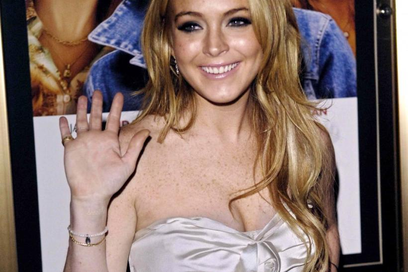 "Lindsay Lohan arrives for the premiere of the film ""Georgia Rule"" at the Ziegfeld Theatre in New York"