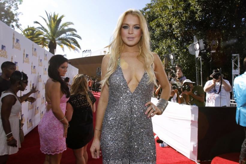 Actress Lindsay Lohan arrives at the 2010 MTV Movie Awards in Los Angeles