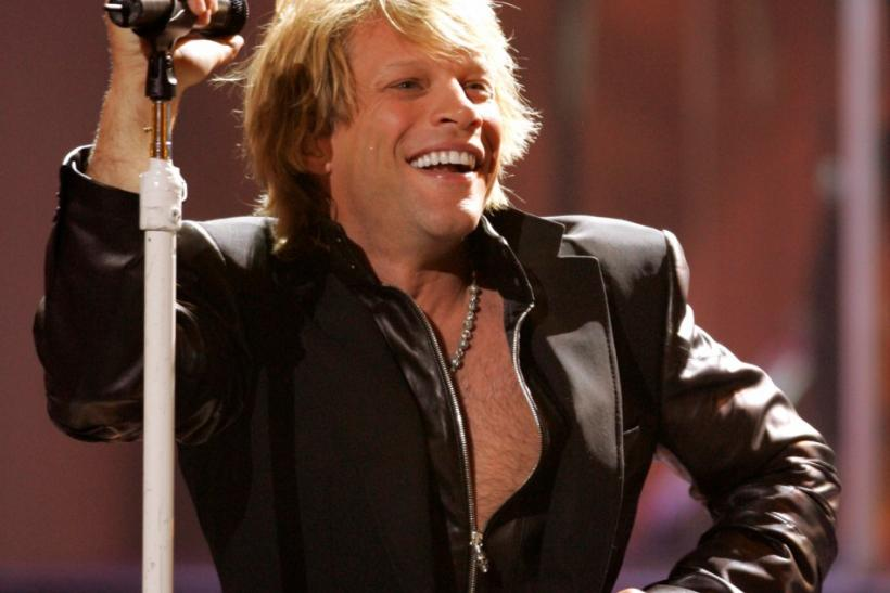 Jon Bon Jovi performing at the 2005 World Music Awards.
