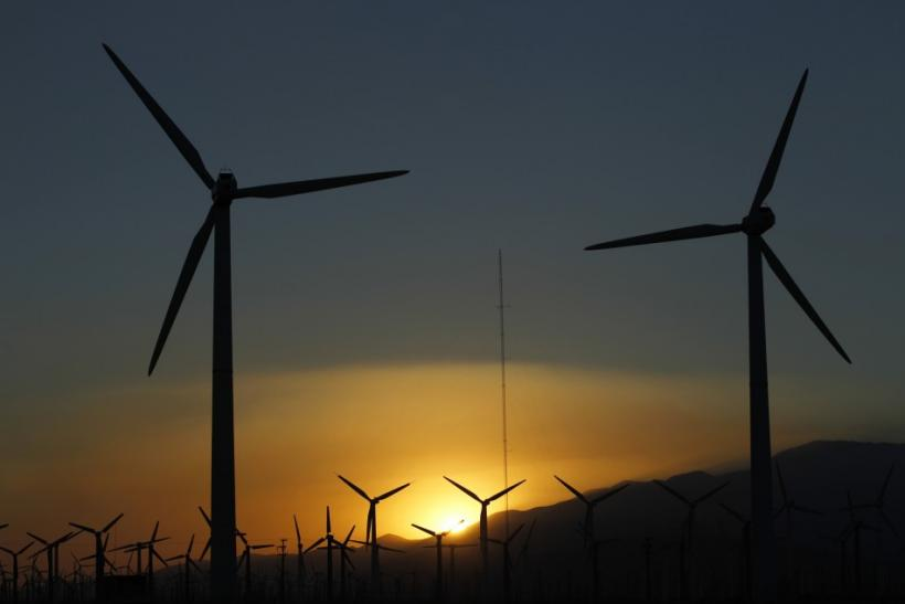 Wind Turbines In Desert Hot Springs, Calif., On July 11, 2011