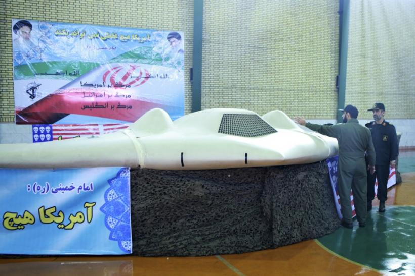 U.S. RQ-170 unmanned spy plane in Iran.