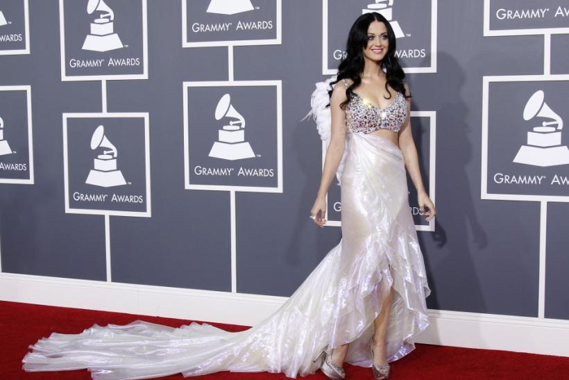 Singer Katy Perry arrives at the 53rd annual Grammy Awards in Los Angeles