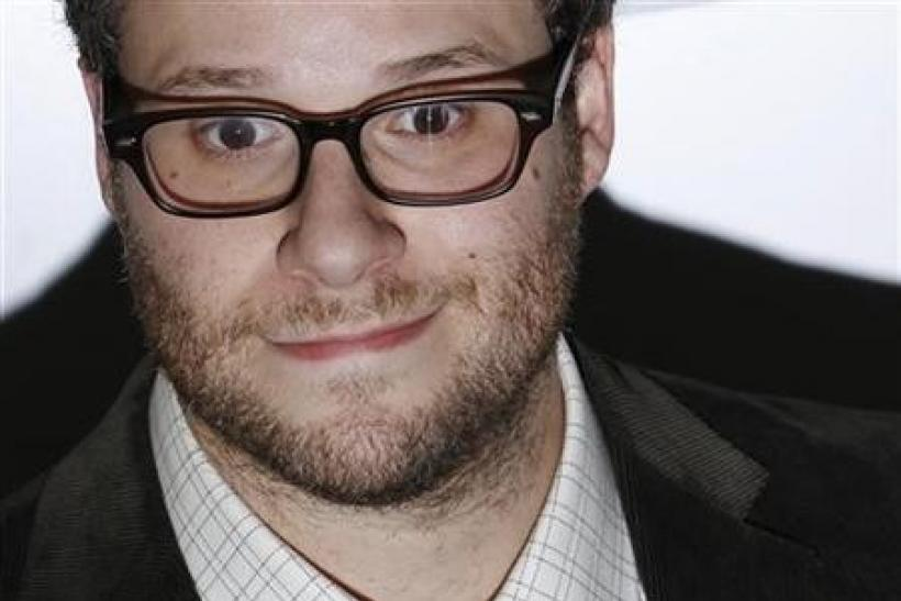 Actor Seth Rogen arrives for the European premiere of ''50/50'' during the BFI London Film Festival at Leicester Square in London