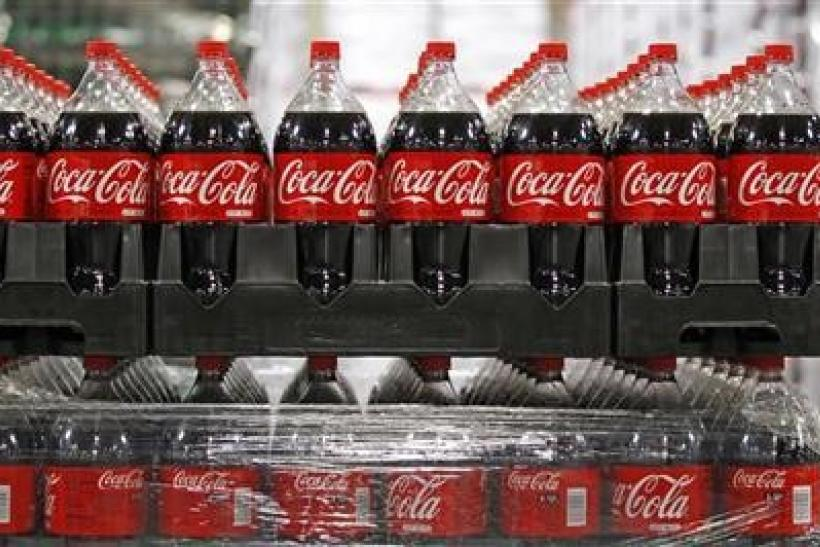Bottles of Coca-Cola, which will be delivered to stores, are seen in a warehouse at the Swire Coca-Cola facility in Draper, Utah