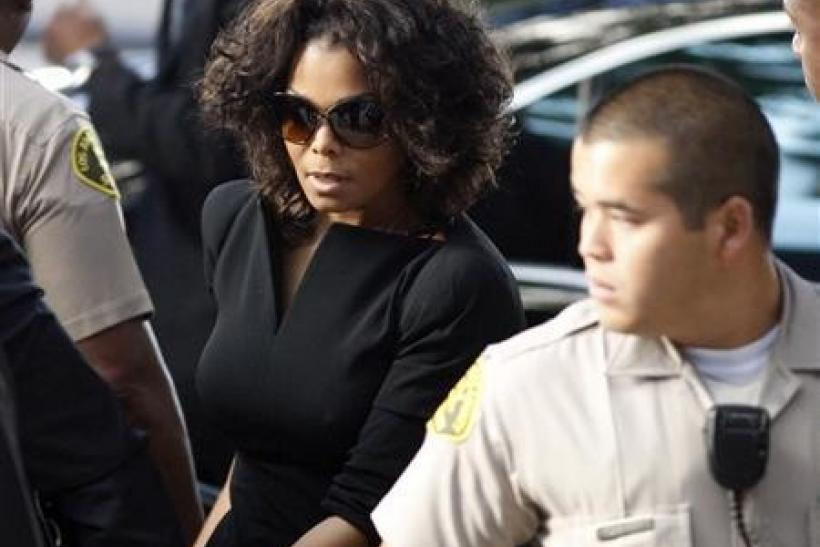 Janet Jackson arrives during the opening day of Dr. Conrad Murray's trial in the death of pop star Michael Jackson in Los Angeles