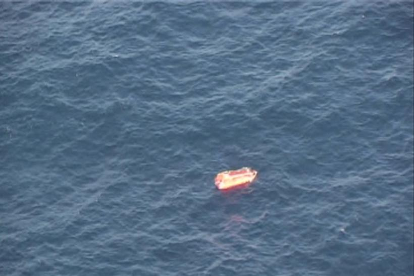 A life raft floats near Sakhalin Dec. 19, 2011