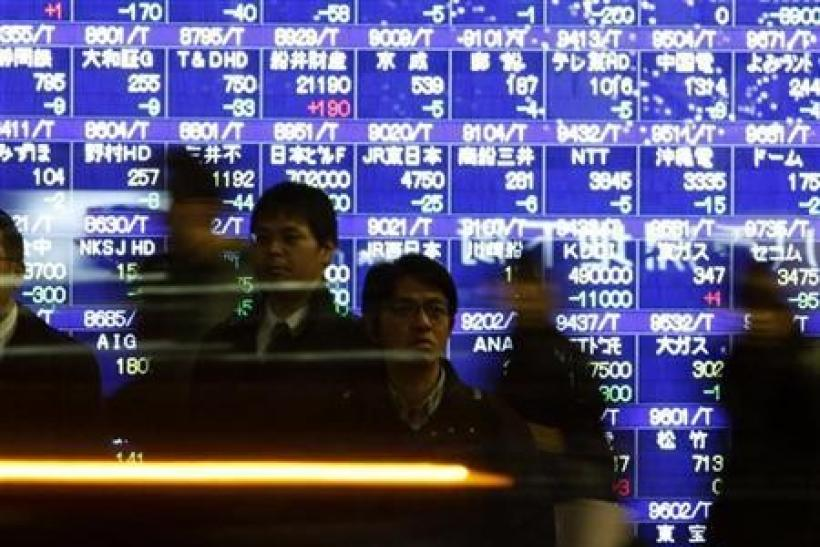 Nikkei gains in thin trade, mood still shaky on Europe