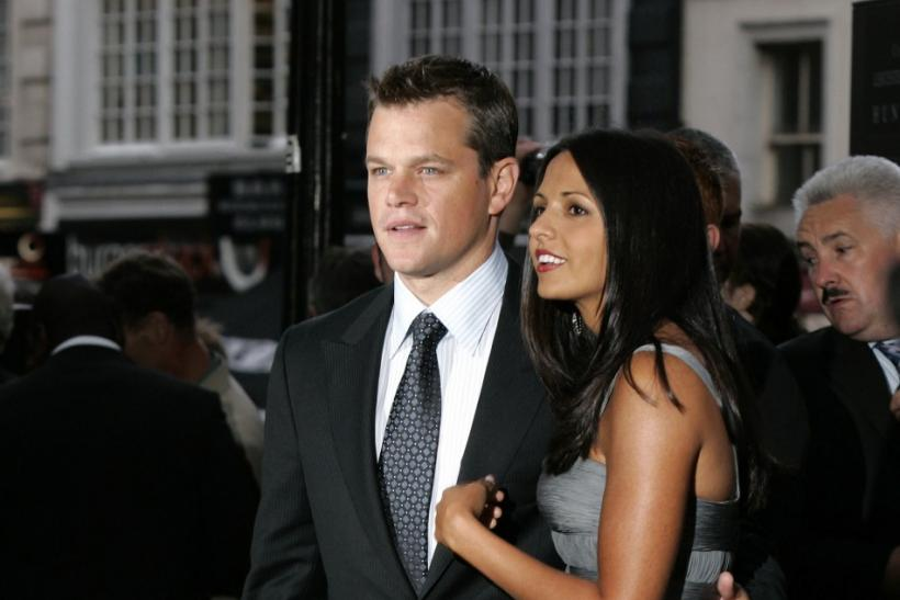 Matt Damon and Luciana Barosso