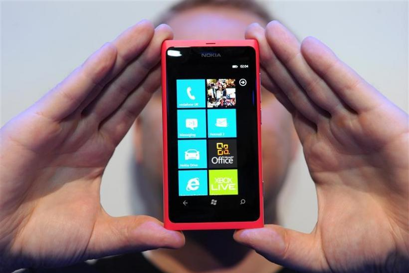 The new Nokia smart phone Lumia 800 is shown off at Nokia world, London