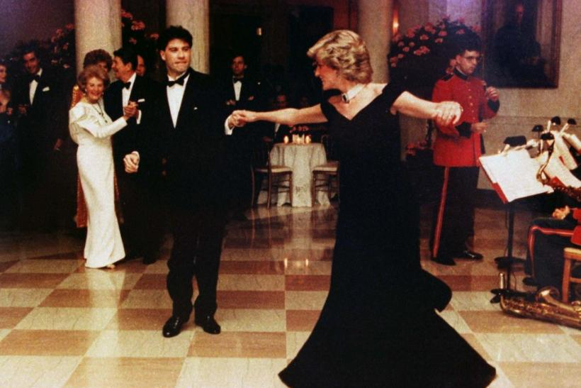 Princess Diana Dances in Gown with John Travolta in 1985