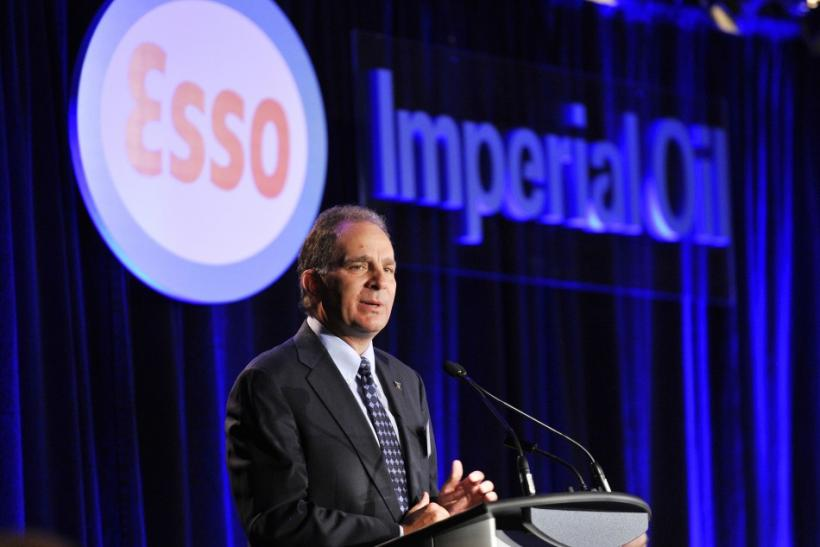March president and CEO of Imperial Oil addresses shareholders at the company's annual general meeting in Calgary.