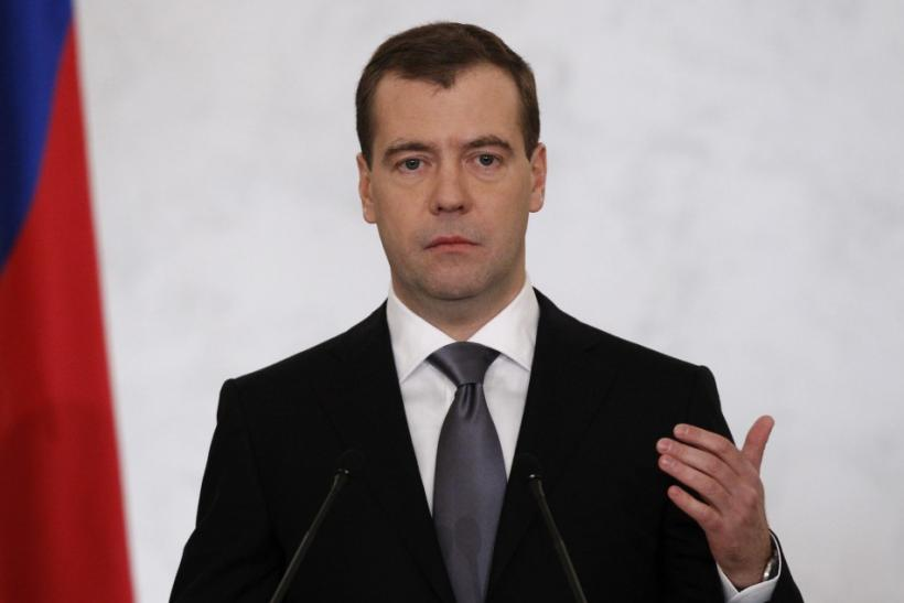 Russia's President Medvedev makes his annual state of the nation address at the Kremlin in Moscow