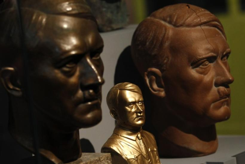 Busts of dictator Adolf Hitler are pictured at a media preview in Berlin