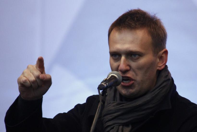 Anti-corruption blogger Alexei Navalny speaks from a stage during a protest against recent parliamentary election results in Moscow December 24, 2011.