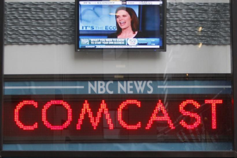 Comcast on NBC ticker