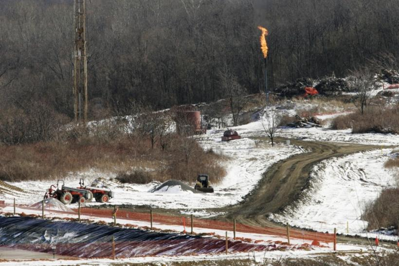 A gas drilling site on the Marcellus Shale is seen in Hickory, Pennsylvania February 24, 2009.