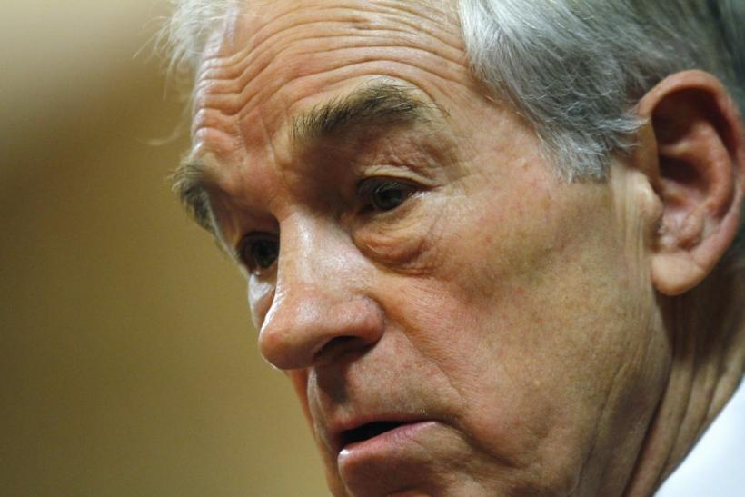 Republican presidential candidate U.S Representative Ron Paul