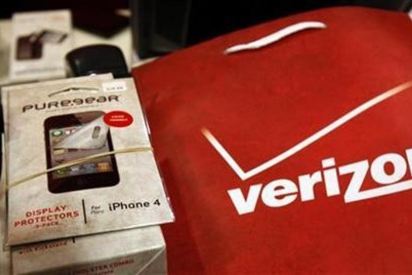 An iPhone 4 and accessories sit on a counter in a Verizon Wireless store shortly after the phone went on sale with Verizon service in New York