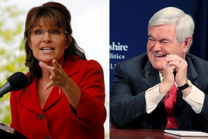 Newt Gingrich Considering Sarah Palin as VP Running Mate