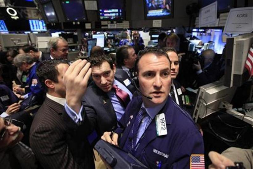 Traders await the start of the trading at the New York Stock Exchange