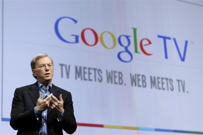 Google Inc CEO Eric Schmidt introduces Google TV in San Francisco