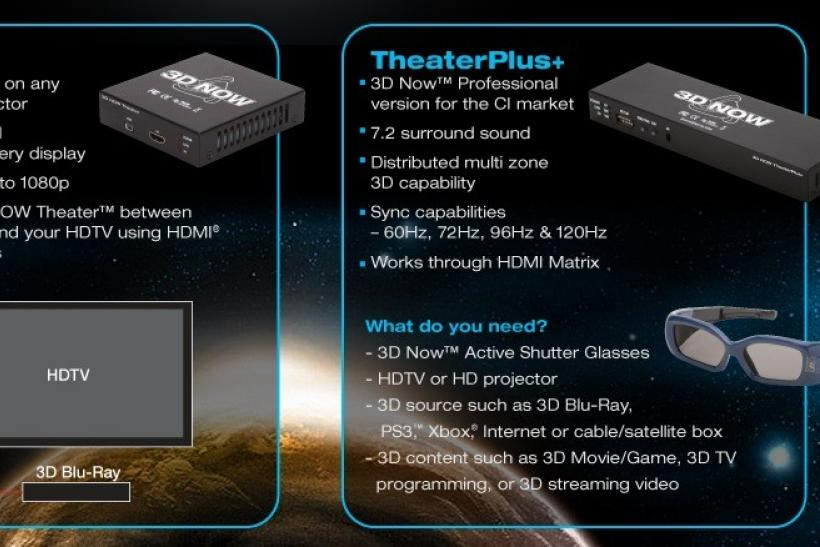 "CES 2012 Preview: 3D Now to Officially Launch Its ""Theater"" for Converting any 2D HD display to 3D"