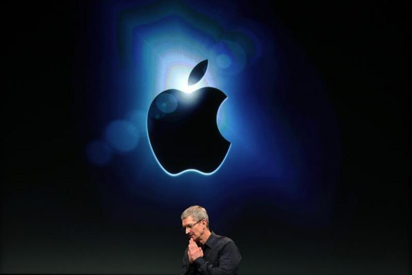 Apple CEO Tim Cook speaks about iTunes at Apple headquarters in Cupertino.