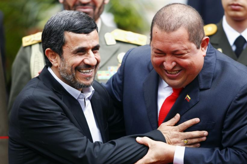"Hugo Chavez and Mahmoud Ahmadinejad Joke About ""Atomic Bomb"""