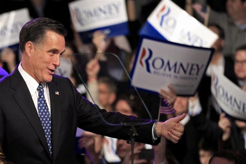 Mitt Romney Wins Arizona and Michigan 2012 Republican Primaries