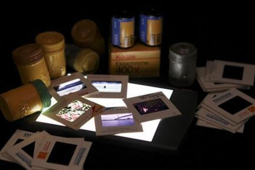 A collection of Eastman Kodak color slide film and 35mm film containers is shown January 6, 2012 in this studio illustration in Washington. Eastman Kodak Co announced a new business structure on January 10, 2012, that eliminates its film group as the once