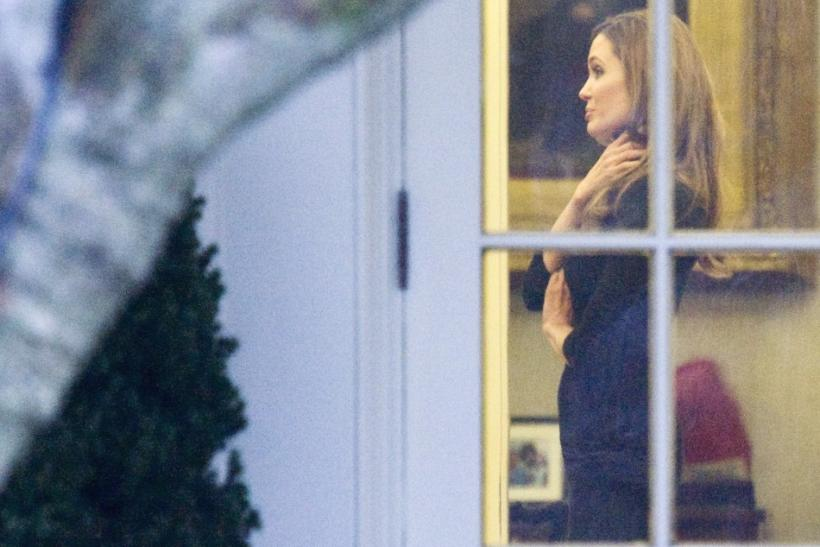 Angelina Jolie and Brad Pitt Visit the White House