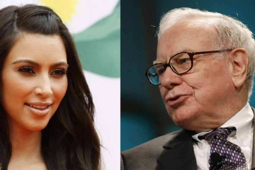 Kim Kardashian and Warren Buffett