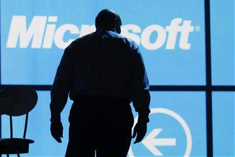 Microsoft CEO Steve Ballmer leaves the stage after the last opening Microsoft keynote at the Consumer Electronics Show opening in Las Vegas