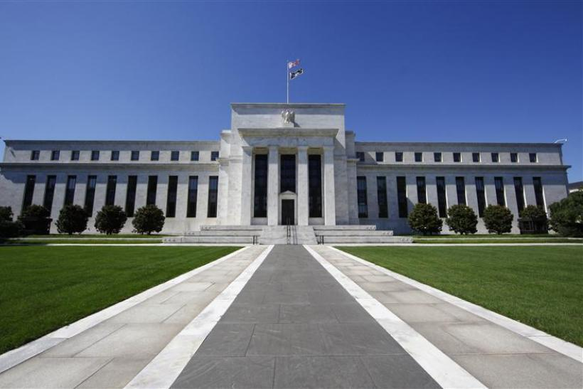 The U.S. Federal Reserve building is seen in Washington.