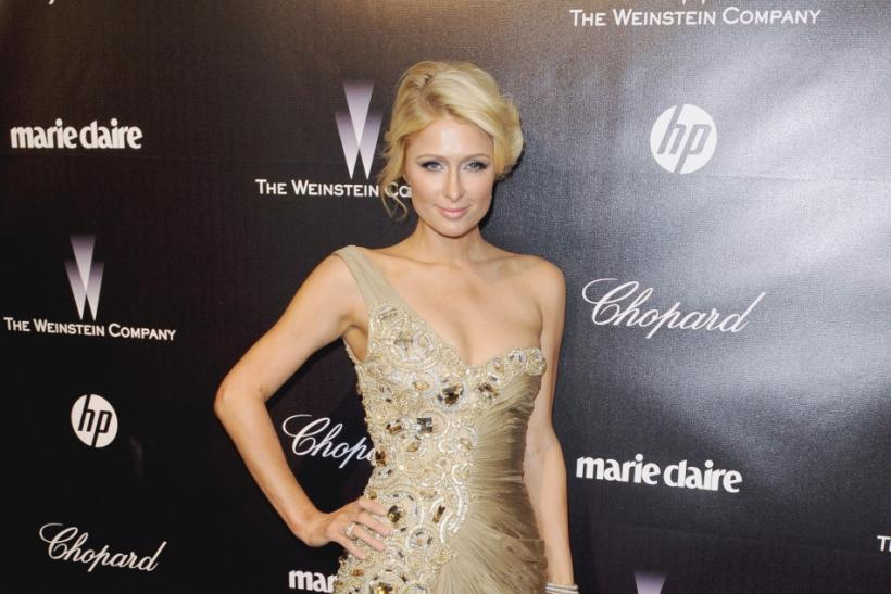 Television personality Paris Hilton arrives at the The Weinstein Company after party following the 69th annual Golden Globe Awards in Beverly Hills, California